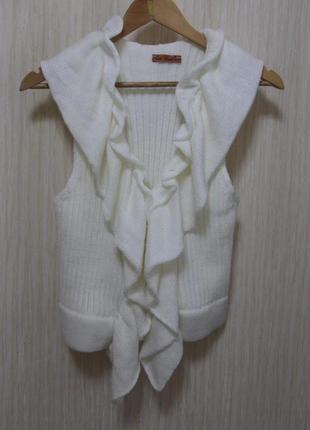 Нежная вязанная жилетка, от тм trikobakh