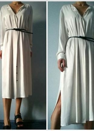 Трендовое струящееся платье-рубашка