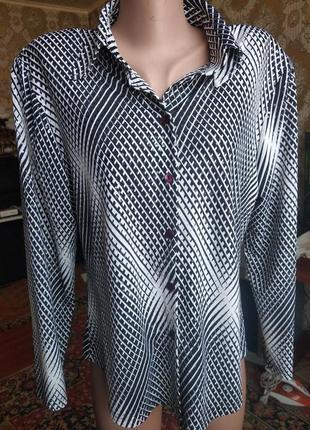 Красивая блузка-рубашка  kifayet ( наш 50-52)