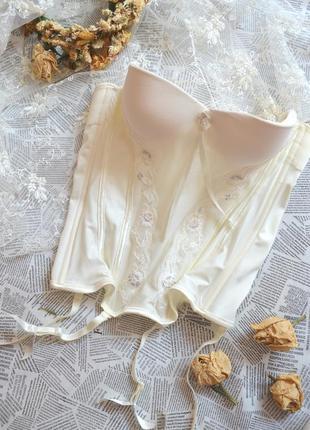 Итальянский корсет под чулки (свадебный)
