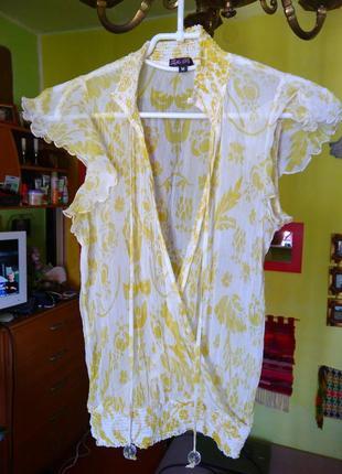 Блуза легкая прозрачная,шолк 100%3 фото