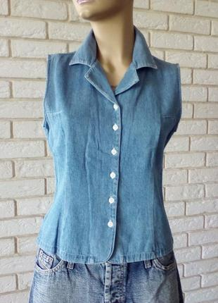 Джинсовая блузка, рубашка, желетка