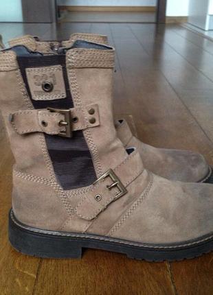 Landrover ботинки, сапоги утепленные кожаные англия р. 38