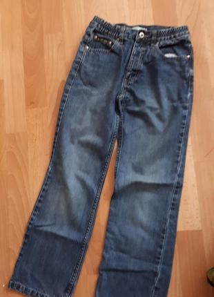 Синие фирменные джинсы прямо крой идеал 146/152р