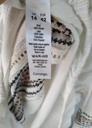 Очень красивая блуза с вышивкой8 фото