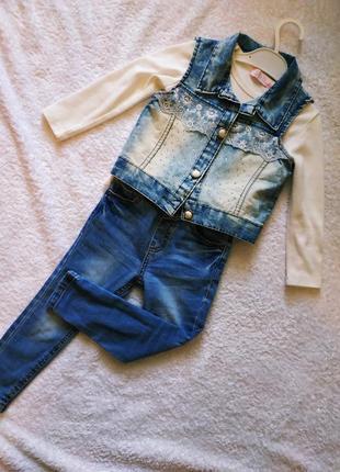Жилетка джинсовая для модницы