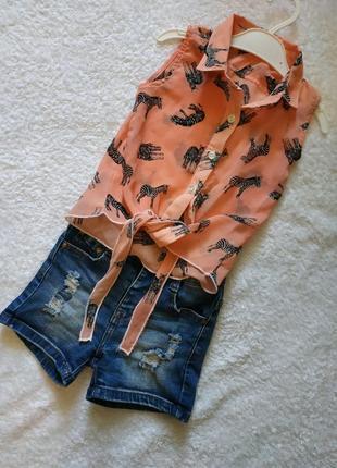 Блузка шифоновая для девочки