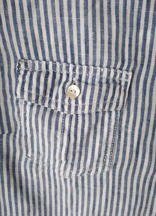 Рубашка из натурального льна4 фото