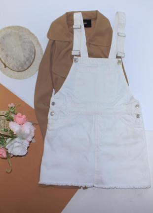Шикарный белый комбинезон юбка, джинсовый суперский2 фото