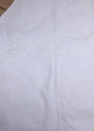 Шикарный белый комбинезон юбка, джинсовый суперский7 фото