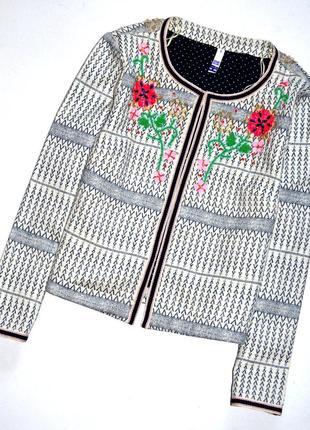 Debenhams. нарядный укороченный жакет с вышивкой бисером . л.12. 40