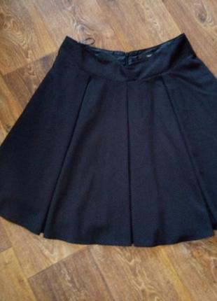 Чёрная расклешенная юбка, от next, р. 16