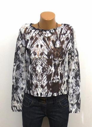 Роскошная кружевная блуза лонгслив от sisters размер: 42-s