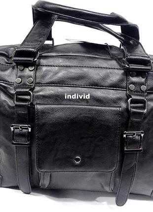 Качественная дорожная кожаная сумка. мужская городская сумка. кожаный портфель
