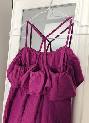 Хлопковое платье сарафан свободного кроя next2 фото