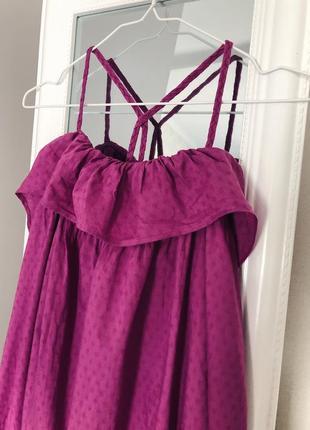 Хлопковое платье сарафан свободного кроя next4 фото