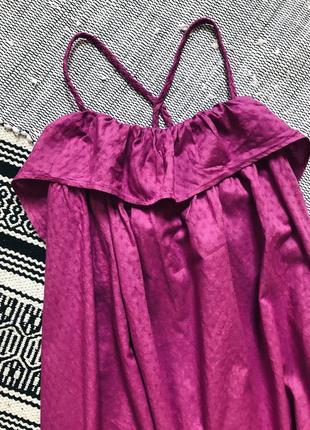 Хлопковое платье сарафан свободного кроя next6 фото