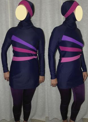 Zoggs буркини мусульманский купальник платье свим дресс9 фото