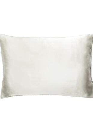 100% шелковая наволочка 50x75 см, цвет белый жемчуг
