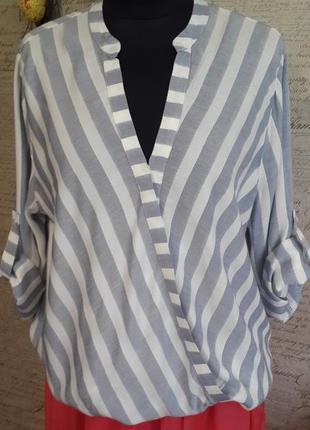 Стильная блуза в актуальную полоску