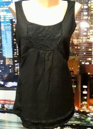 Легкая льняная блуза размер м, небольшая л