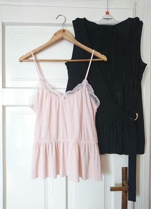 Трендова гофрована блуза/топ в білизняному стилі від amisu, на р. m/l