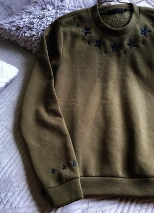 Свитшот милитари цвет хаки военный3 фото