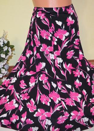 Красивая яркая юбка  большого размера