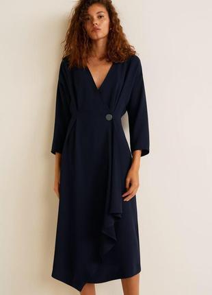 Mango платье с запахом синее , черное, белое, s/m