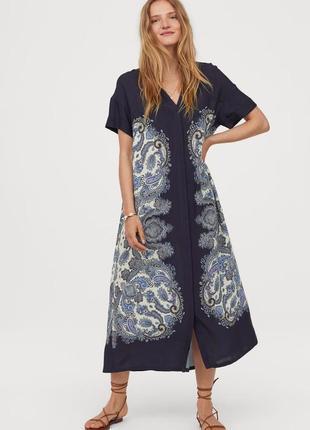 Платье-рубашка с рисунком h&m oversized