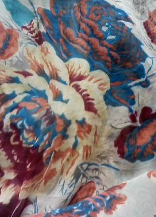 Шелковое  винтажное платье в стиле бохо, шелк от warehous, разм.465 фото