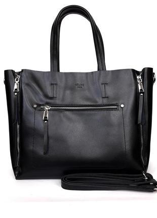 """Женская кожаная сумка """"olivia"""" черная"""