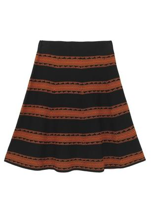 Стильная юбка трапеция в полоску
