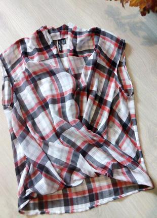 Блузка клетка mango2 фото