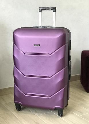 Качество! чемодан большой пластиковый валіза велика пластикова польша / киев