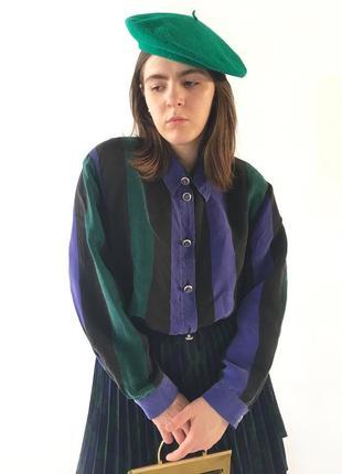 Шелковая рубашка блузка