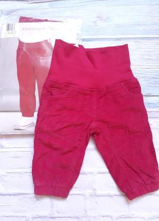 Тёплые штанишки на девочку 6-9 мес