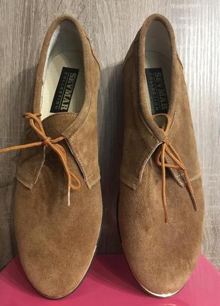 Новые замшевые демисезонные закрытые женские туфли