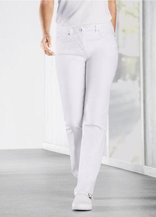 Белые хлопковые джинсы lidl, германия,р.40 евро