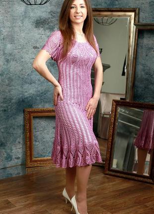 """""""вояж"""" вязаное платье крючком."""