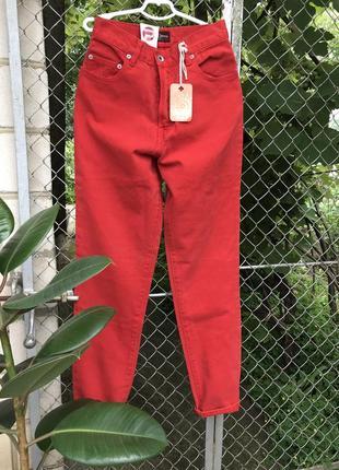 Елітні джинси mon,boyfriend,тренд,червоні джинси