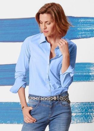 Элегантная рубашка в полоску от тсм tchibo (чибо), германия, размер 46-48