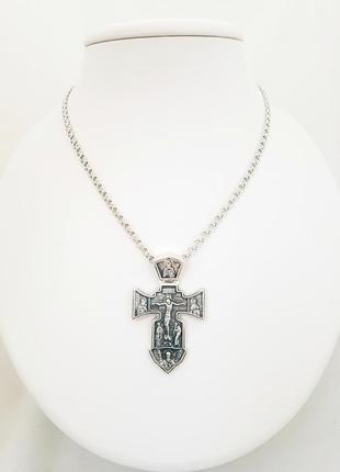 Серебряный крестик 925 проба черненый