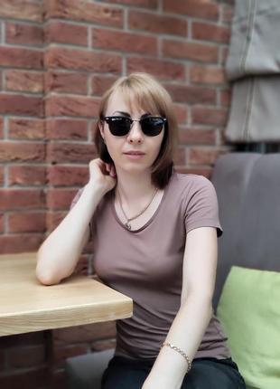 Женские очки солнце черные с поляризацией (код 3016)