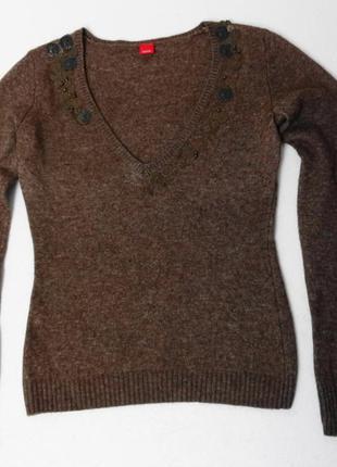 Esprit. уютный свитер. в составе шерсть.