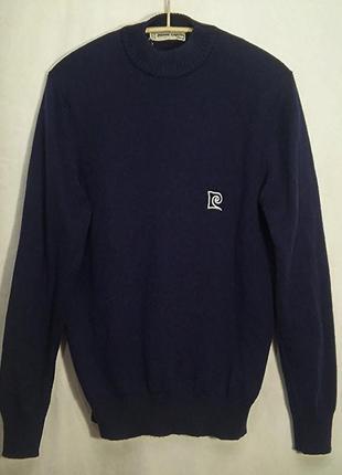 Pierre cardin, свитер синий шерсть винтаж, made in france