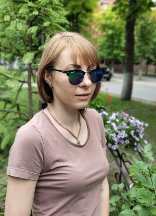 Женские очки солнце  ретро зеркало (код  3016)