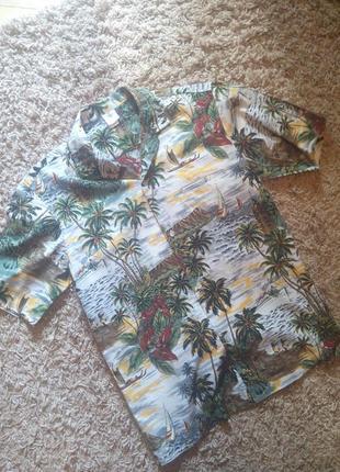 Стильная гавайская пляжная мужская рубашка от «royal creations», made in hawaii, usa