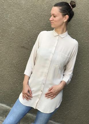 Удлинённая длинная рубашка