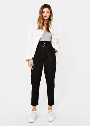 Классические штаны с высокой посадкой bershka, осень-зима-весна ♥
